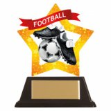 Mini-Star Acrylic Football Award 10CM (100MM) - AC19662A