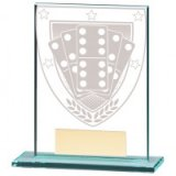 Millennium Dominoes Jade Glass Award 110MM - CR20374A