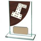 Colour Curve Dominoes Jade Glass Award 125MM - CR4623AA