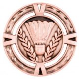Bronze V-Tech Badminton Premium Zinc Alloy Medal 6CM 60MM - MM1034B
