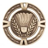 Gold  V-Tech Badminton Premium Zinc Alloy Medal 6CM 60MM - MM1034G