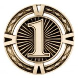 Gold V-Tech 1st Premium Zinc Alloy Medal 6CM 60MM - MM1039G