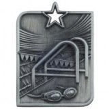 Centurion Star Swimming Zinc Alloy, 3D Die-Cast Silver Medals 53x40MM - MM15011S