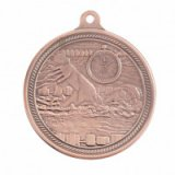 Bronze Swimming Endurance Stamped Iron Medal 5CM 50MM - MM16050B