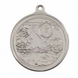 Silver Swimming Endurance Stamped Iron Medal 5CM 50MM - MM16050S