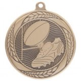 Typhoon Rugby Stamped Iron Medal Gold 5.5CM 55MM - MM20449G