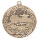 Typhoon Swimming Stamped Iron Medal Gold 5.5CM 55MM - MM20453G