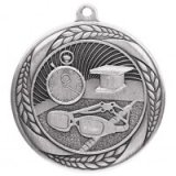 Typhoon Swimming Stamped Iron Medal Silver 5.5CM 55MM - MM20453S