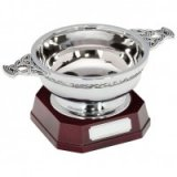 The Highland Quaich In Steel On Base 125mm - ST15519B